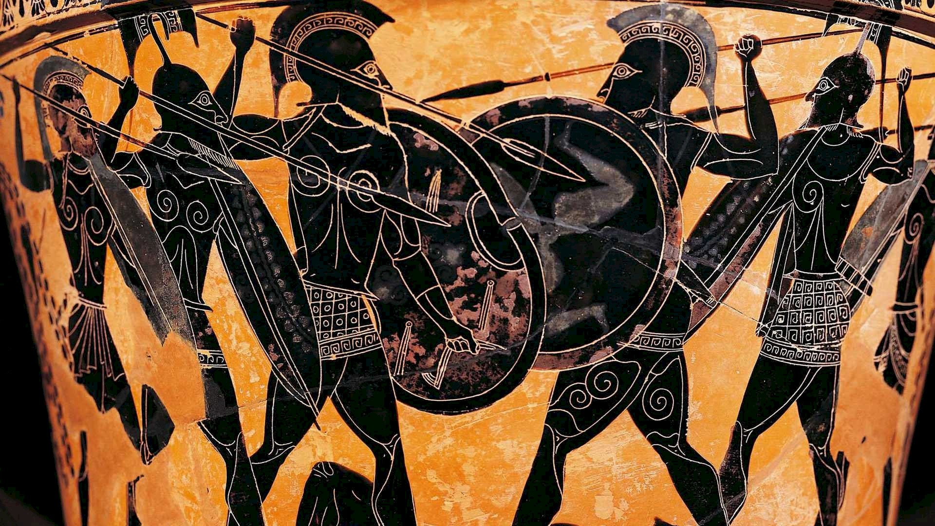 Is the ancient Greek hoplite named after his shield?