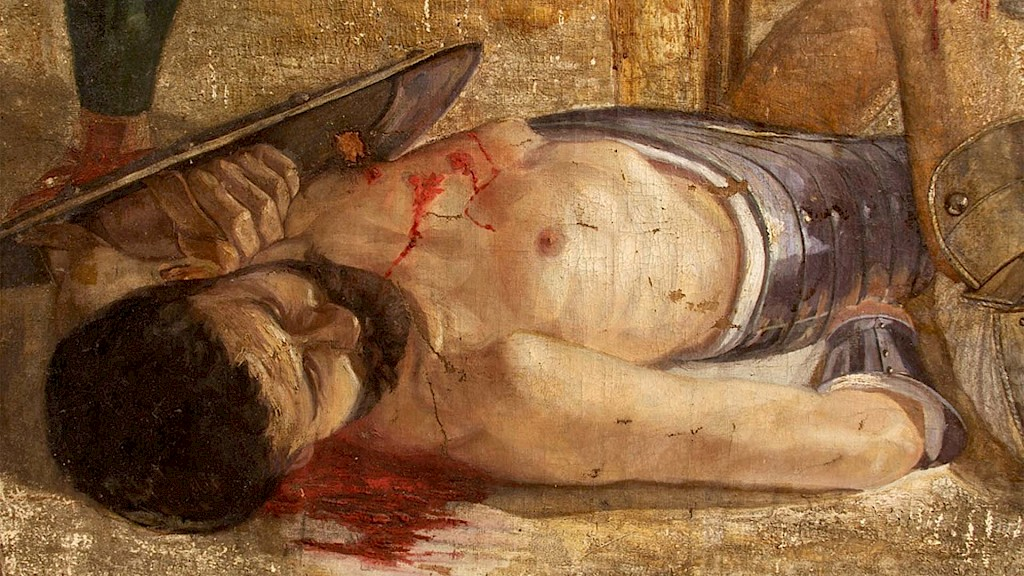 Did most Roman gladiator fights end in death?